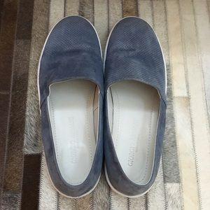 Giorgio Armani Men's Blue Suede Loafers